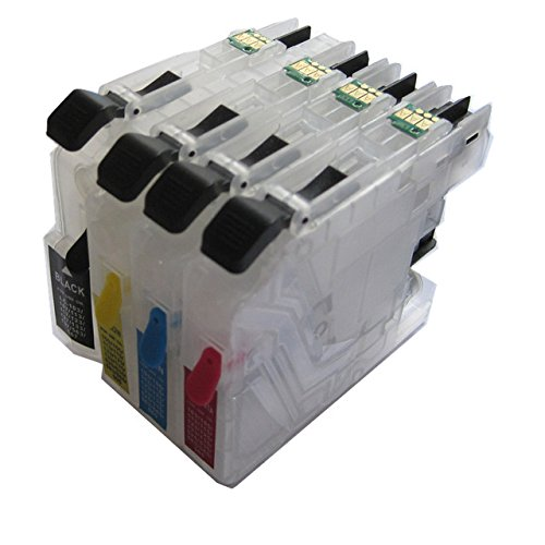 EasyBuy India LC563 BK C M Y Refillable Ink Cartridge For Brother MFC-J2510/MFC-J2310/MFC-J3720/MFC-J3520 Printer Permanent Auto Reset p Ink Cartridges at amazon