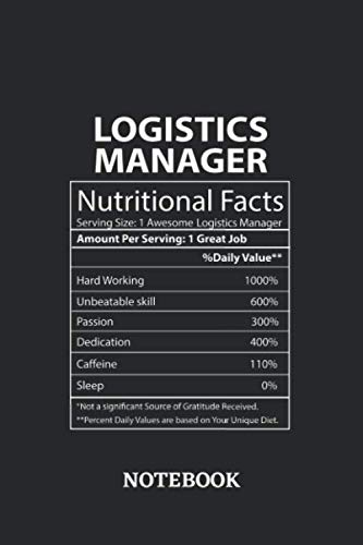 Nutritional Facts Logistics Manager Awesome Notebook: 6x9