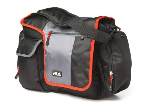 FILA Diaper Messenger Blk/Gry/red