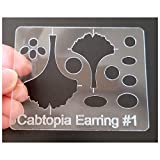 "Cabtopia - Jewelry Design Template Stencil""Earring"