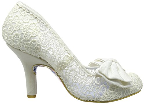 Irregular Choice Damen Mal E Bow Pumps weiß (Cream)