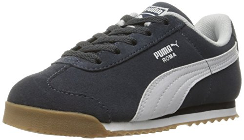 (PUMA Kids' Roma Suede Inf Sneaker, New Navy White, 4 M US Toddler)