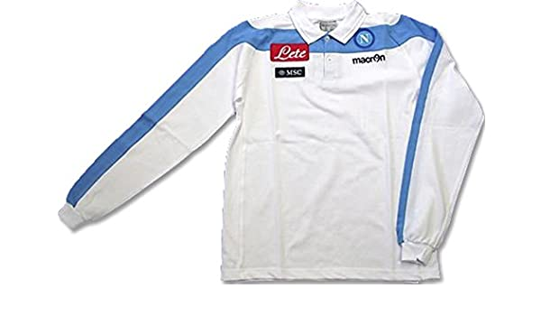 Macron Polo SS Fútbol Napoli M/L Blanca Prod.Oficial Original Lete ...