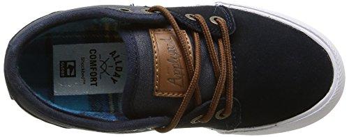 Globe Mahalo-kids - Zapatillas de skateboarding Niños Azul - Bleu (Navy/Plaid)