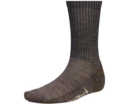 SmartWool Men's Heathered Rib Socks (Taupe) X-Large (Smartwool Crew Long Underwear)