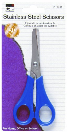 Charles Leonard Student Scissors, Blunt Tip, 5 Inches, Assorted Colors (80530)