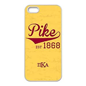 iPhone 5 5s Cell Phone Case White Pi Kappa Alpha Est 1868 Pike Gsrej
