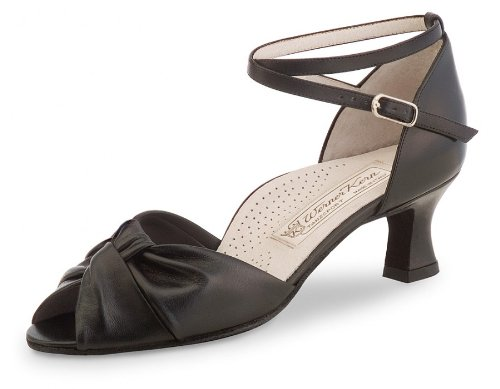 Werner Kern Women's Ruth - 2'' (5.0 cm) Latin Heel, Comfort Line, Black Leather, 8 M US (5 UK)