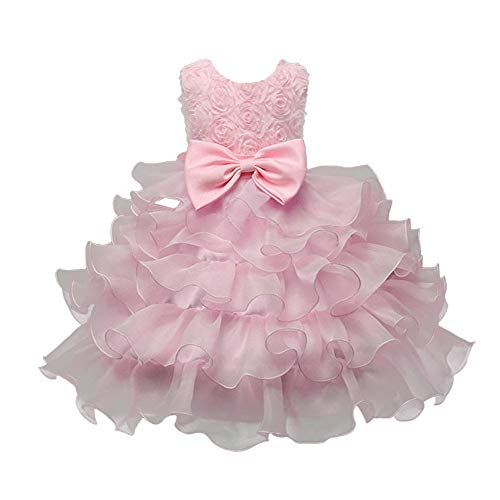 Used, Baby Girl Dresses Ruffle Lace Pageant Party Wedding for sale  Delivered anywhere in USA