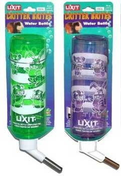 Critter Brite 8 Oz Bottle (Small Animal Supplies Critter Brites Carded Water Bottle 8 Oz Day Glow Colors)