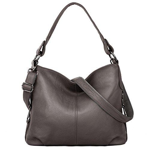 Grey Leather Handbags - 4