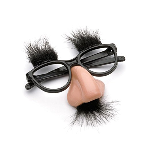 Toy Disguise Sets, Moustache Glasses with Nose Fancy Dress Costumes for Party/Joke/Wedding (Clown Nose Glasses)
