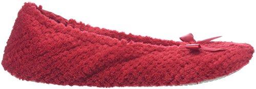 Red Red Women's Ballet Isotoner Ballet Flats Popcorn 81nwOY