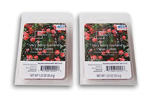 Mainstays Christmas Scents Wax Cubes Bundle - Very Berry Garland