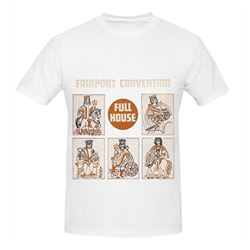 Fairport Convention Full House Soundtrack Mens O Neck Music T Shirt White