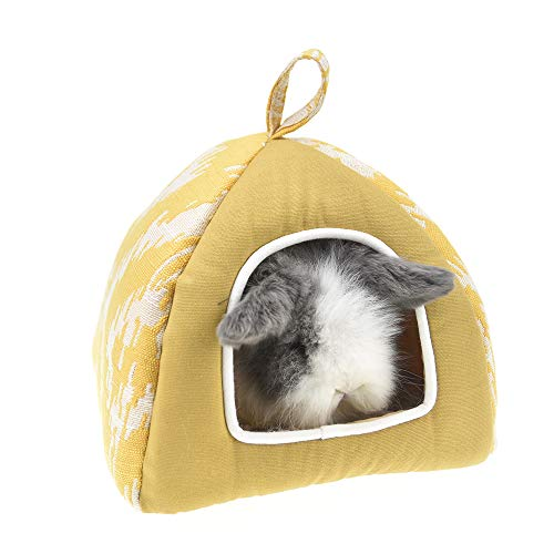 FLAdorepet Guinea Pig Hamster Tent Bed House Winter Fleece Squirrel Hedgehog Chinchilla Rat House Cage Nest Bed Hamster Accessories (S, -