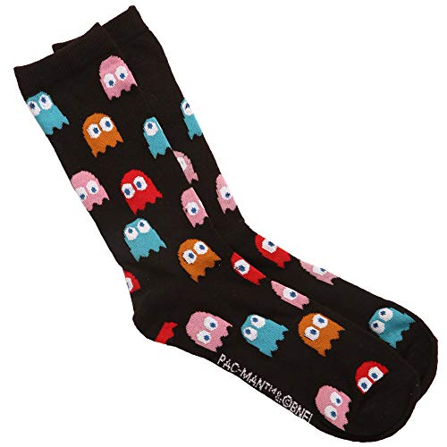 Pac-Man Ghosts Adult Crew Socks. Officially Licensed for Sizes 6-12 adult