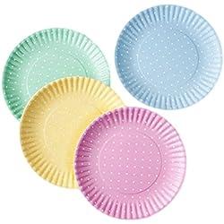 Pastel Polka Dot Dinner Plate