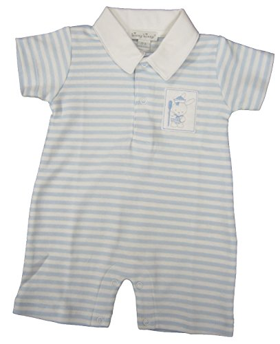 Kissy Kissy Baby-Boys Infant Second Mate Stripe Short Playsuit With Collar