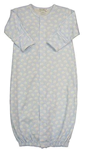 Kissy Kissy Baby-Boys Infant Trendy Trunks Print Convertible Gown-Blue With White-Small