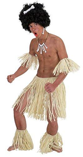 Zulu Set! Hawaiian Fancy Dress Costume! Grass Skirt Armbands & Legbands! -