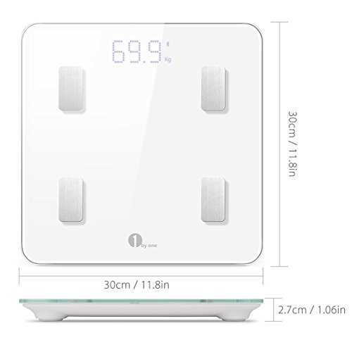 ... Smart Wireless Digital Bathroom Scale for Body Weight, Body Fat, Water, Muscle Mass, BMI, BMR, Bone Mass and Visceral Fat, White: Health & Personal Care