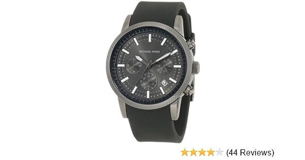 e40356eed4e7 Amazon.com  Michael Kors Chronograph Silicone Strap Watch - MK8241  Michael  Kors  Clothing