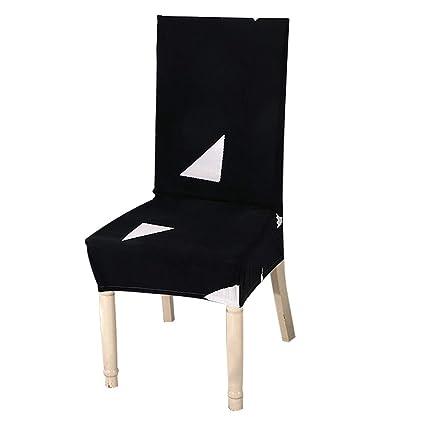Superb Amazon Com Fdit Elastic Chair Cover Black Triangle Pattern Machost Co Dining Chair Design Ideas Machostcouk