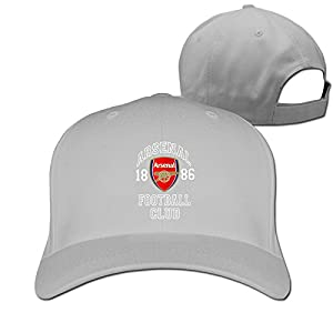 Arsenal FC Soccer Logo Baseball Snapback Cap Ash
