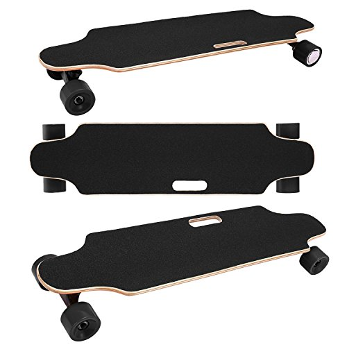 35.4'' Electric Skateboard 10km Range 250W Hub-Motor 2.9'' Wheels Longboard with Remote Controller Waterproof IP54 (Black) by Hurbo (Image #6)