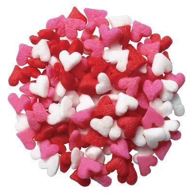 Mini Heart Shaped Cupcake Sprinkles - Cookie Sprinkles 1 oz Quins