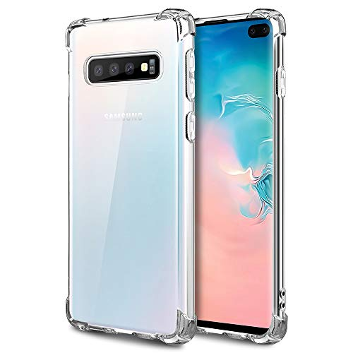Caka Case for Galaxy S10 Plus Clear Case Anti Scratch Excellent Grip Flexible Premium Clarity Silicone Soft TPU Crystal Protective Case for Samsung Galaxy S10 Plus (Clear)