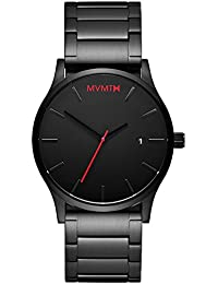 MVMT Watches Black Face with Black Stainless Steel...