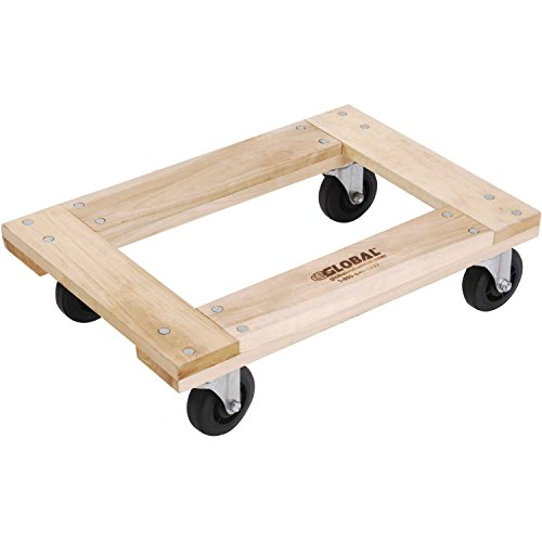 - Hardwood Dolly - Open Deck, 36 x 24, 1000 Lb. Capacity