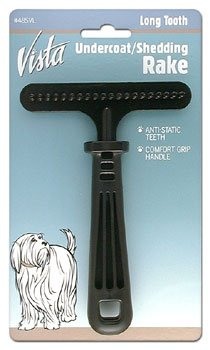 Miller Forge DMI485VL Vista Dog Teflon Coated Undercoat Shedding Rake with Long Tooth, My Pet Supplies