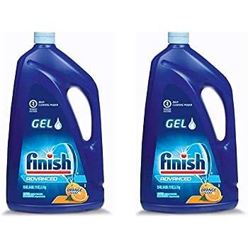 Finish Gel Automatic Dishwasher Detergent, Lemon Scent 75 oz (Pack of 2)