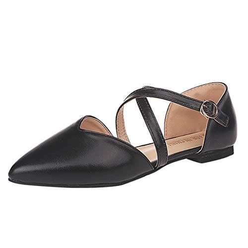 Gogoodgo Women Flats Shoes Spring Autumn Pointed Toe Slip-On Shoes Fashion Single Shoes