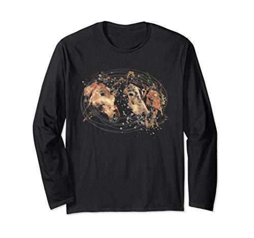 Horse Art Shirt Horse Lover Love Horses Equestrian Gift Long Sleeve T-Shirt