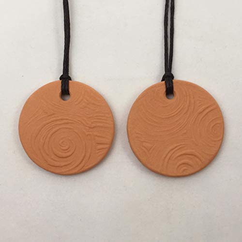 (2 Terracotta Pendant Diffusers for Essential Oil Use/Hand-made and Kiln-fired)