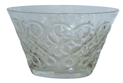 (Zrike Brands Teardrop Pressed Glass Bowl, Clear, Set of)
