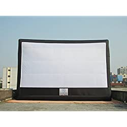 32ft x 17ft (Viewing Area) Front and Rear Projection. Giant Inflatable Movie Screen with Blower and Patches.