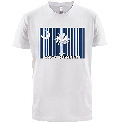 South Carolina / Süd-Carolina Barcode Flagge - Herren T-Shirt - Weiß - L