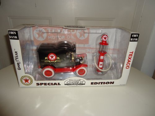 Car Delivery Bank (1912 Ford Model T Delivery Car Coin Bank and 1920s Wayne Gas Pump)