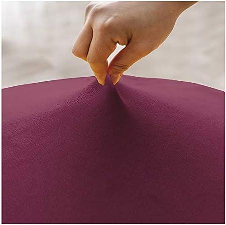 KELUINA XL Fundas para sillas de Terciopelo Felpa para sillas de Comedor, Fundas para sillas elásticas, tronas de Spandex, Fundas Protectoras con elástico para Comedor (Rojo Vino, 2 Piezas)
