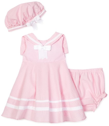 Rare Editions Baby Girls' Seersucker Nautical Dress