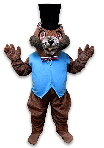 cjs huggables Mascots USA Custom Pro Low Cost Groundhog Wuchak Mascot Costume by cjs huggables