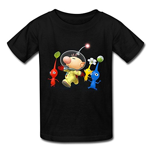 FEDNS Kid's Captain Olimar And Pikmin Super Smash Bros T Shirt L -