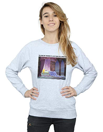 shirt Be Sweat Beauty Gris 5 There I'll Femme Disney Sport Sleeping In FRxnqSWAw