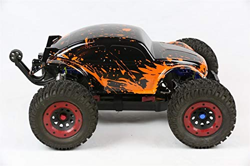 SummitLink Compatible Custom Body Muddy Red Over Black Replacement for 1/10 1/8 Scale RC Car or Truck (Truck not Included) B-BR-02