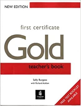 Book First Certificate Gold: Teacher's Book (FCE)
